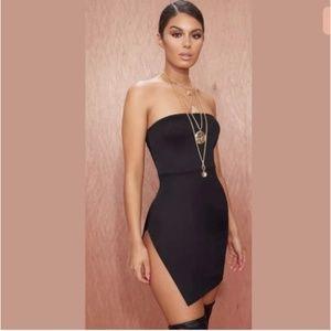 Pretty Little Thing Crepe Split Side Bodycon Dress